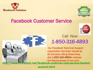 Can Facebook Customer Service be profited at ostensible price?call 1-850-316-4893