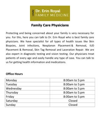 Family Care Physicians