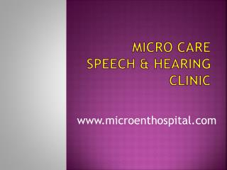 Best Speech & Hearing Clinic in Hyderabad