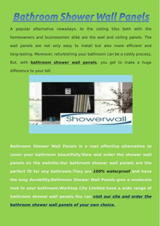Bathroom Shower Wall Panels