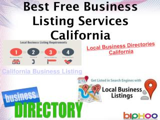 California Online business listing