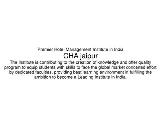 Hotel Management In Jaipur-College,Hotel,Courses,Chef,Career,etc | Cha jaipur