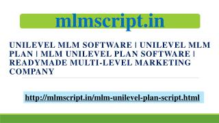 MLM Unilevel Plan Software | Readymade Multi-Level Marketing Company | Unilevel MLM Software | Unilevel MLM Plan