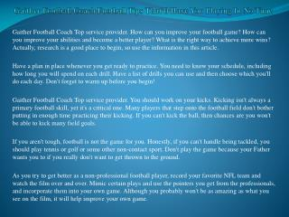 Gaither Football Coach Football Tips That'll Have You Playing In No Time
