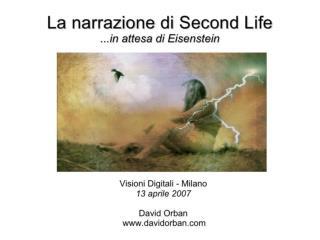 La narrazione di Second Life