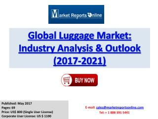 Luggage Market Size, Share - Global Forecasts Report 2017-2021