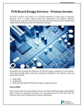 PCB Board Design Services - Proteus Invents