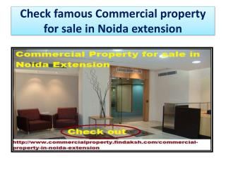 Check famous Commercial property for sale in Noida extension