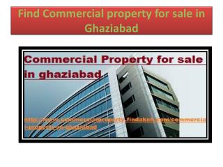 Find Commercial property for sale in ghaziabad