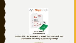 Product PDF Print Magento 2 extension