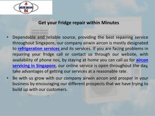 Get your fridge repair within minutes