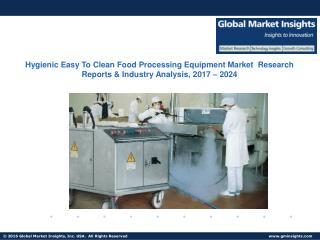 Hygienic Easy To Clean Food Processing Equipment Market Share, Analysis, Outlook (2017-2024)