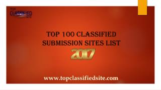 Top 100 High Pr Classified Sites 2017