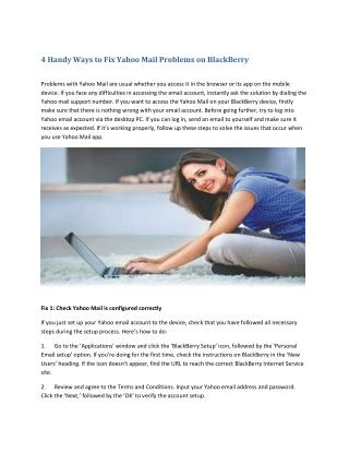 4 Handy Ways to Fix Yahoo Mail Problems on BlackBerry