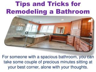 Tips and Tricks for Remodeling a Bathroom