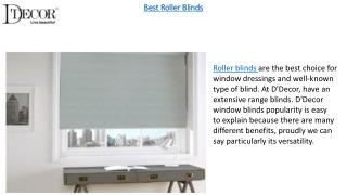 Home Decor Items As Roller Blinds, Venetian Blinds