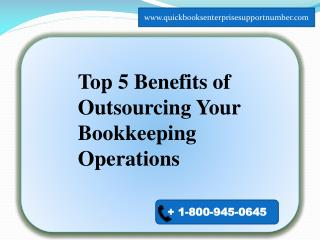 TOP FIVE BENEFITS OF OUTSOURCING BOOKKEEPING OPERATIONS
