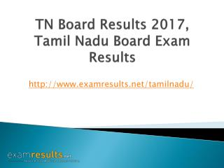 TN Board Result 2017, Tamilnadu 12th Result 2017, TN SSLC Result 2017