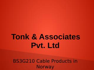 """BS3G210 Cable Products in Norway"""