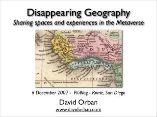 Disappearing Geography