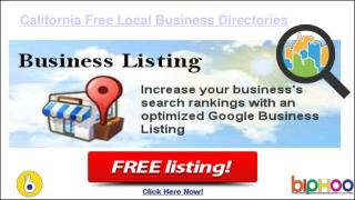 Free business listing site in California | business listing California