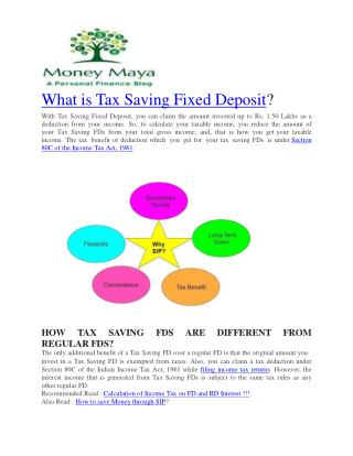 Tax Saving Fixed Deposit