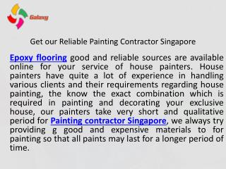 Get our reliable painting contractor Singapore