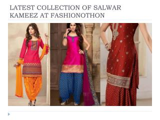 latest collection of salwar kameeez at fashionothon