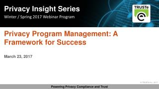 Privacy Program Management: A Framework for Success | TRUSTe