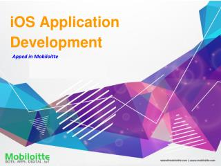 iOS Application Development - Mobiloitte