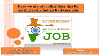 we are giving Latest railway jobs notification and alerts