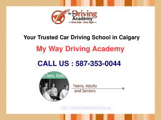 My Way Driving School Calgary | Online Training & Classes | 587-353-0044