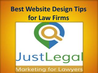 Best Website Design Tips for Law Firms
