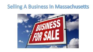 Selling a Business in Massachusetts -Carpenter Hawke