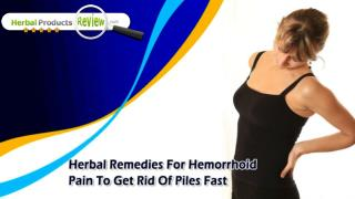 Herbal Remedies For Hemorrhoid Pain To Get Rid Of Piles Fast