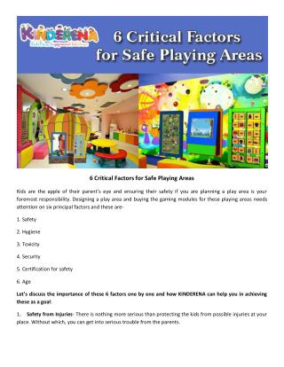 6 Critical Factors for Safe Playing Areas