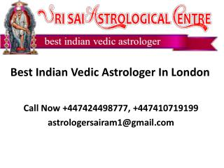 Indian Astrologer In London, UK