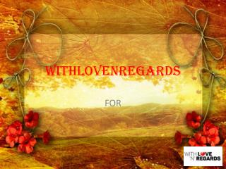 send flowers online withlovenregards