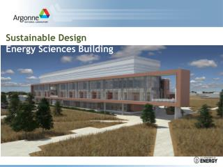 Sustainable Design Energy Sciences Building