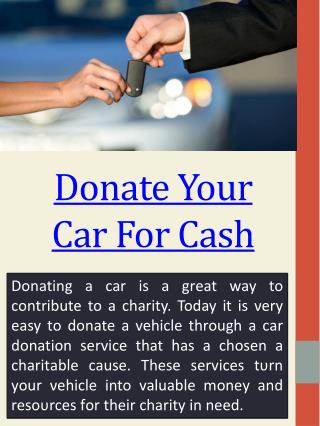 How To Donate Your Car To Charity