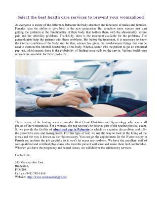 West Coast obgyn-Obstetrical Care in Bradenton