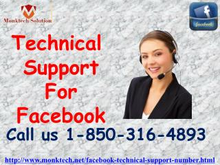 How to take Technical Support For Facebook from the tech-heads 1-850-316-4893?