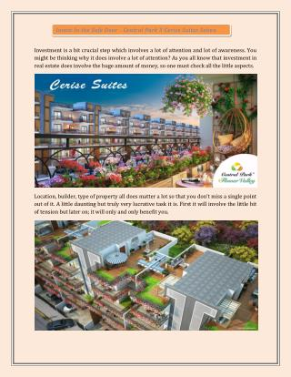 Central Park 3 Cerise Suites Sohna Gurgaon