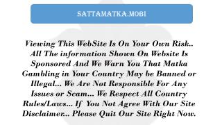 Best Trips Provider of Satta Matka Game | SattaMatka