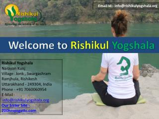 200 Hour Yoga Teacher Training in Rishikesh | India