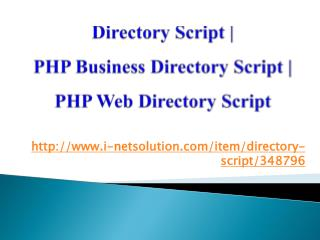 Directory Script | PHP Business Directory Script | PHP Web Directory Script