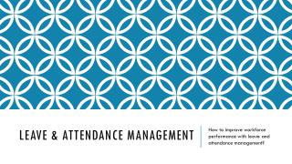 Leave & Attendance Management Software