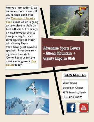 Adventure Sports Lovers - Attend Mountain   Gravity Expo in Utah