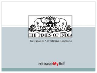 Times of India Newspaper Advertising Online