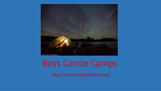 Boys Canoe Camps